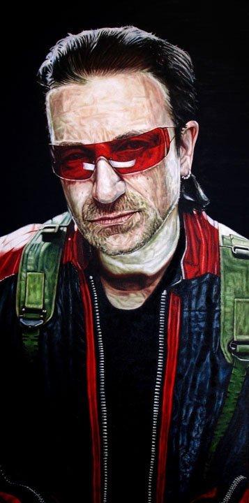 47: Mark Baker 4 pieces Oil & Acrylic 100x50cm each
