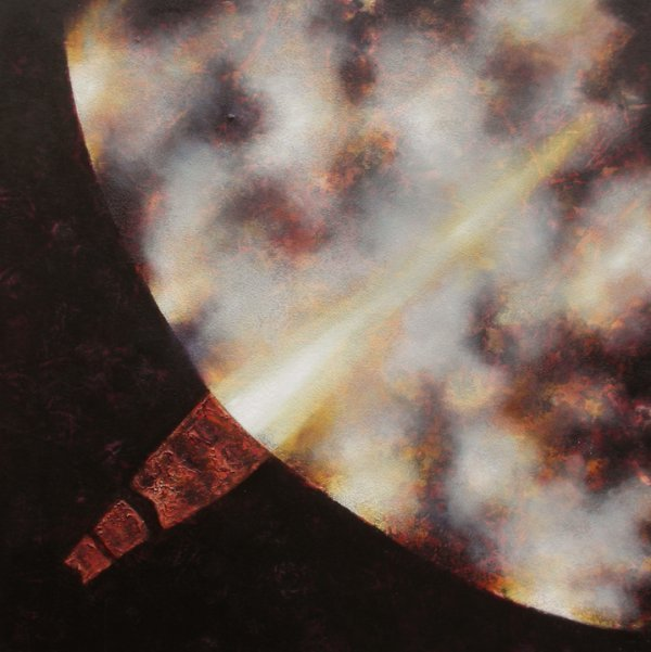 50: Tim Goulding 2 Oil & Marble Dust on Canvas 100x100c
