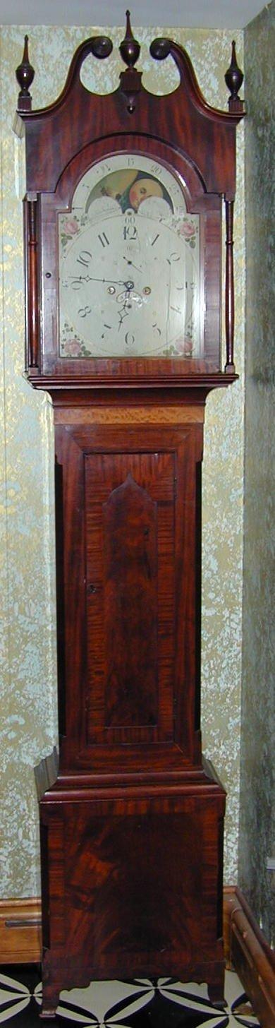 324: Mahogany Tall Case Clock circa 1790 - 1810