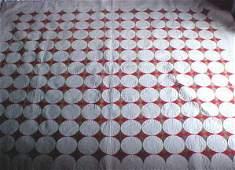 375: Vintage Handmade Quilt - Beautiful Star Design