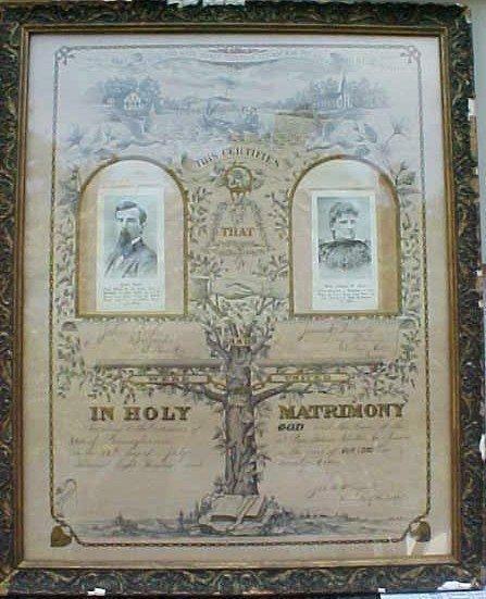 001: Original Marriage Certificate John Rich