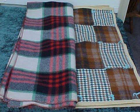 007: Plaid Wool Blanket & Wool Child's Blanket