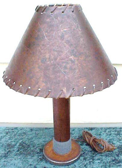 009: Lamp Made From Old Wooden Woolrich Mill Spool