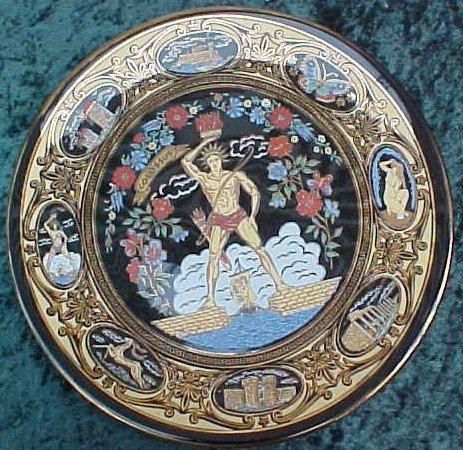 016: Greek Colossus Plate - 24k Gold Trim