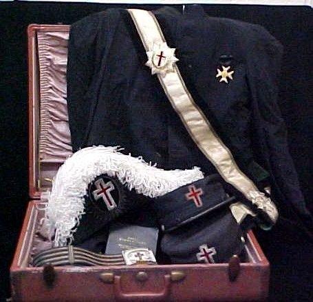 236: Masonic Knights Templar Uniform Hats Lit Lot