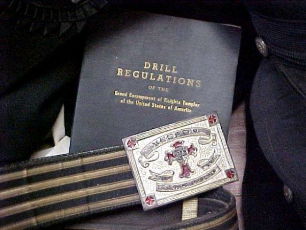236: Masonic Knights Templar Uniform Hats Lit Lot - 2