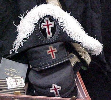 236: Masonic Knights Templar Uniform Hats Lit Lot - 3