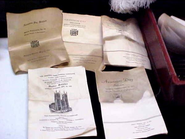 236: Masonic Knights Templar Uniform Hats Lit Lot - 6
