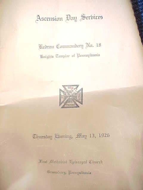 236: Masonic Knights Templar Uniform Hats Lit Lot - 7
