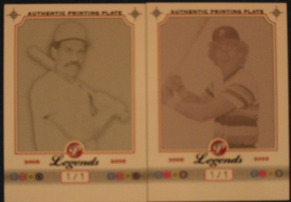 1007: 2 - 2005 Topps Pristine Legends Printing Plates