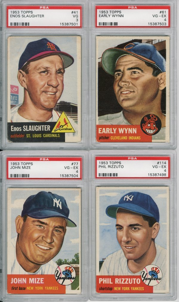 1023: 4 - 1953 Topps Baseball Cards Hall Of Fame/SP