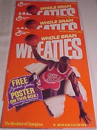 1157 1989 Michael Jordan 3 Pcs Wheaties Posters Rare Mar 28