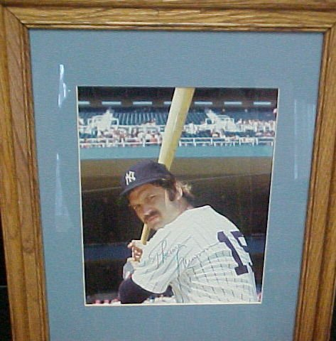 1159: Rare Framed Autographed Photo Thurman Munson