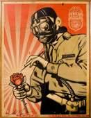 "22: SHEPARD FAIREY - 18"" x 24"" Toxicity Inspector Silks"