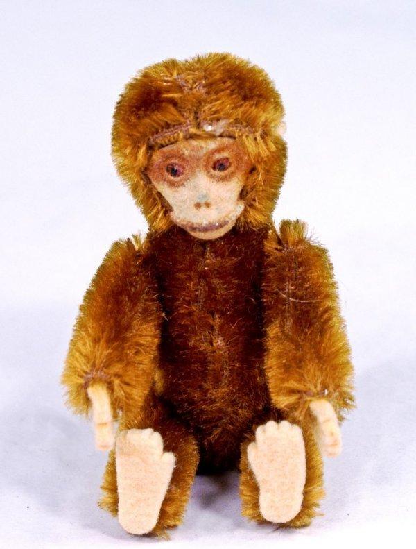 Shuco Brown Mohair Monkey Perfume Bottle