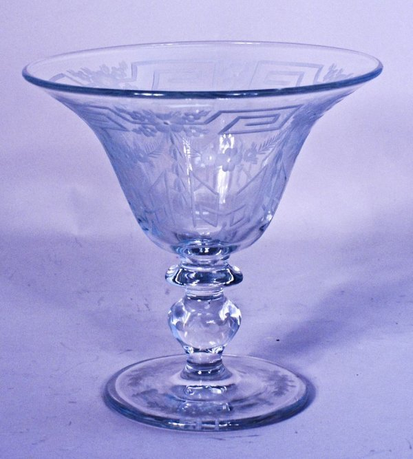 Hawkes Engraved Corning/Steuben Vase