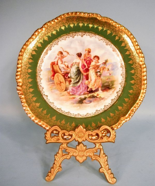 Imperial Crown China Cabinet Plate by Angelica Kauffman