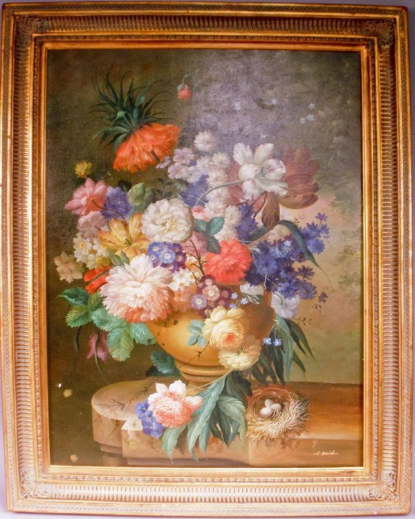 Floral Painting by A. Smid