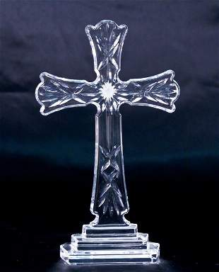 """Waterford Crystal """"Classic"""" Standing Cross"""