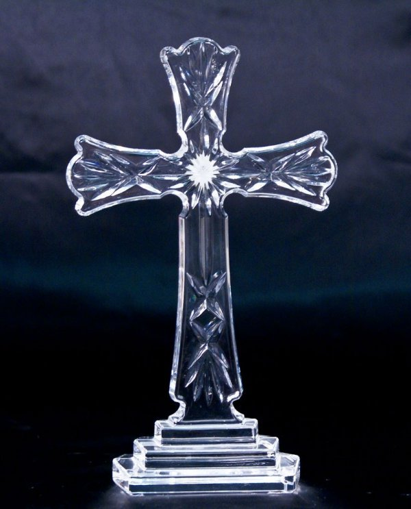 "Waterford Crystal ""Classic"" Standing Cross"