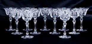 "Set of 11 Tiffin ""Cherokee Rose"" Cocktail Goblets"