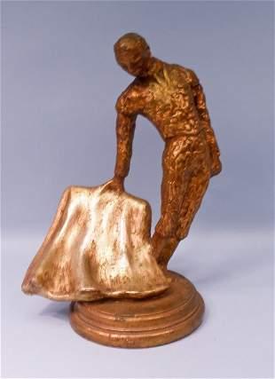 Gold-leaf Chalkware Figure of Matadore