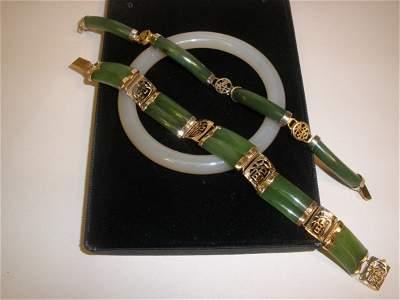 0916: 3 Chinese Jade Bracelets