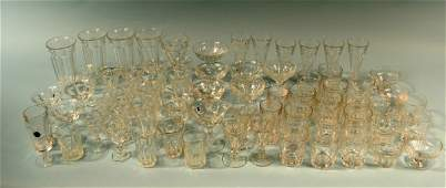 70 Heisey Colonial Style Stems, Tumblers, Cordials, Win