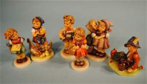 Group of 6 Large Hummels