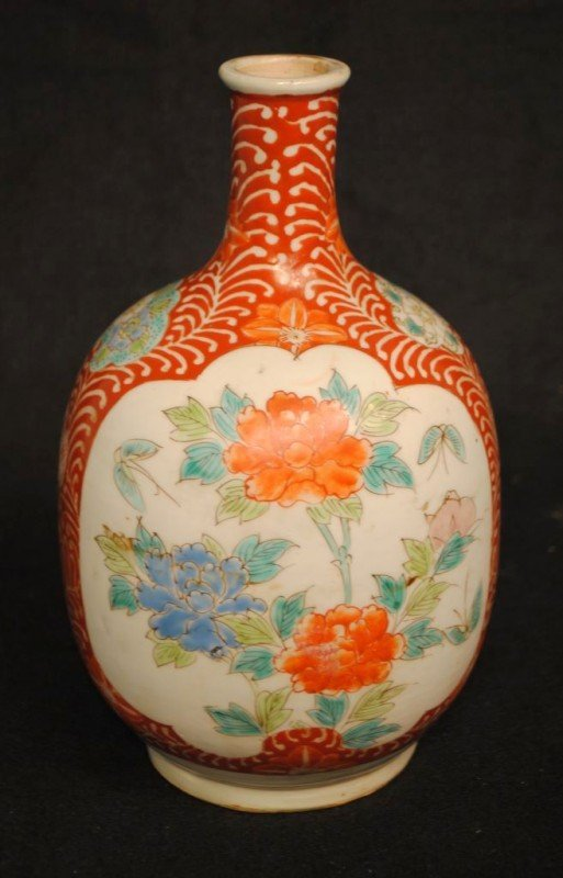 c1850 Arita Imari Sake Service or Table Bottle by Zoshu