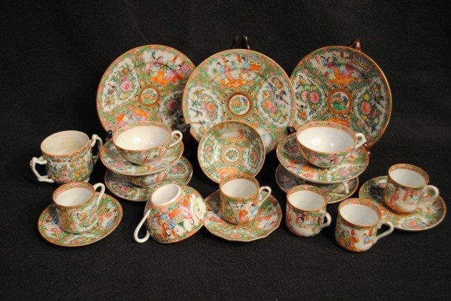 "Twenty Two Piece ""Rose Medallion"" Chinese Export Porcel"