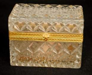 Crystal Jewelry Casket with Gilt Mounts
