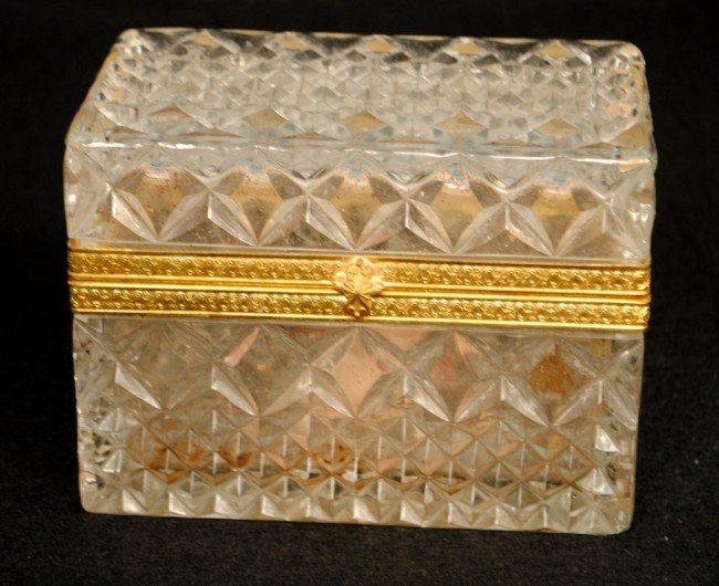 Crystal Jewelry Casket with Gilt Mounts