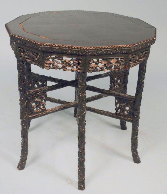 Chinese Blackwood Tea Service Table c1920