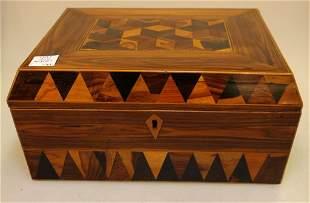 J. Derinck Inlaid 19th Century Box