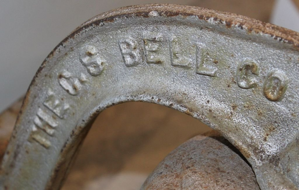 Large 1886 No. 3 C.S. Bell Company Iron Bell - 2