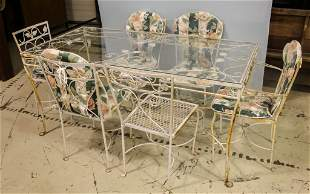 Wrought Iron Table and Chairs Set