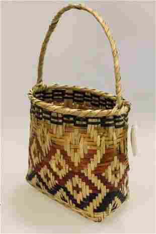 Multi-Color Choctaw Basket
