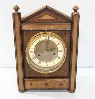 1930s Walnut Steeple Mantel Clock