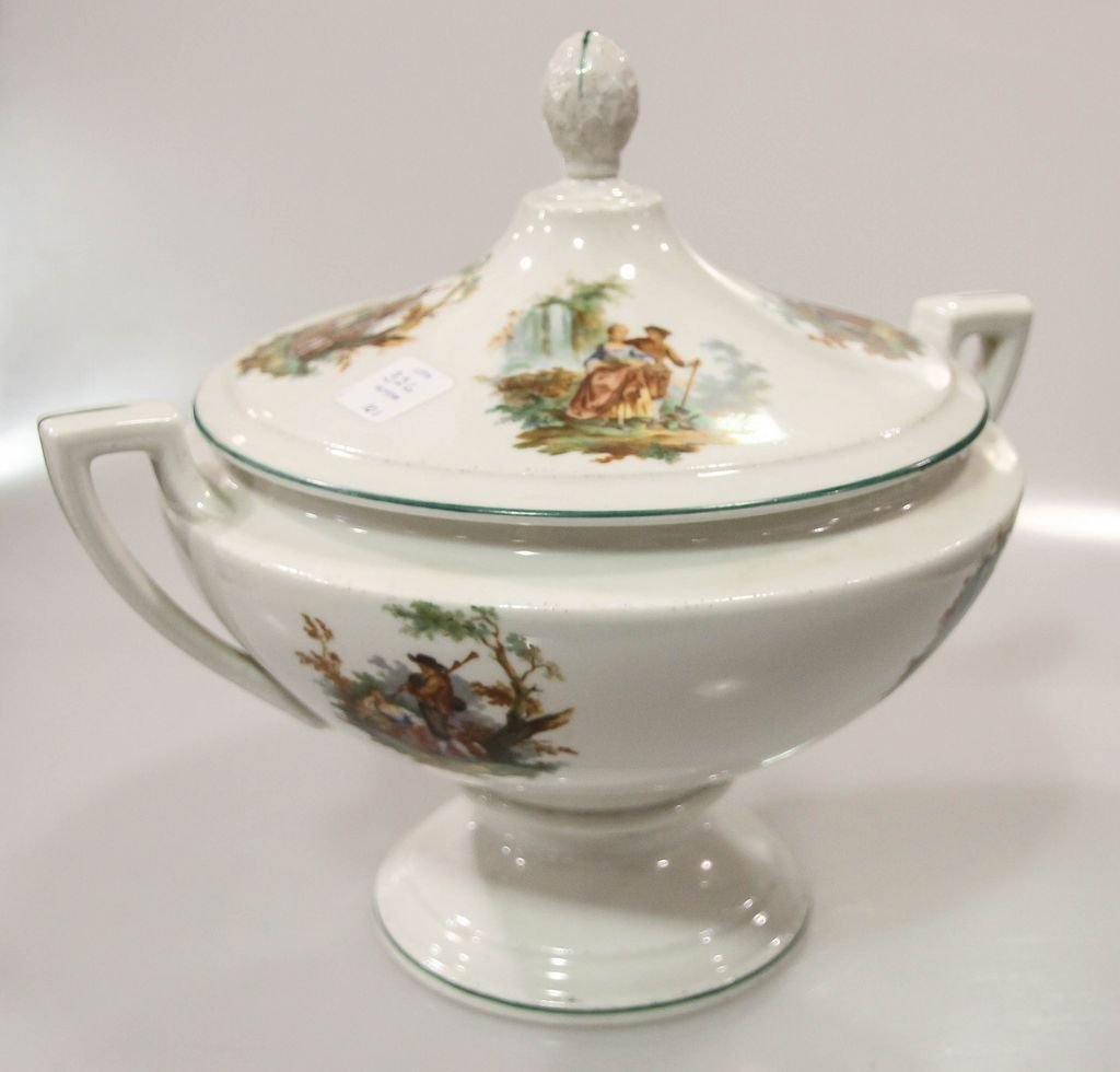 Large Czechoslovakian Covered Tureen