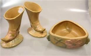 Three Pieces of Weller Pottery