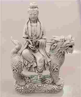 Blanc de China Quan Yin Figure