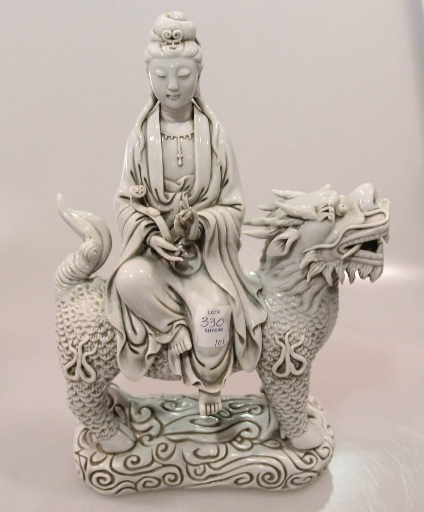 Blanc de China Quan Yin Figure