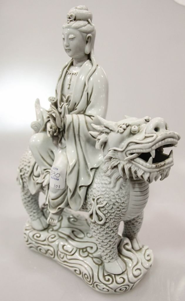 Blanc de China Quan Yin Figure - 2