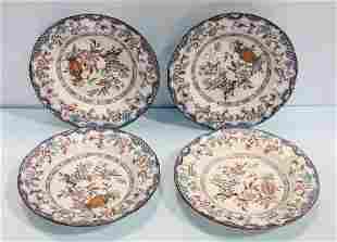 Set of Four Poona English Ironstone Bowls