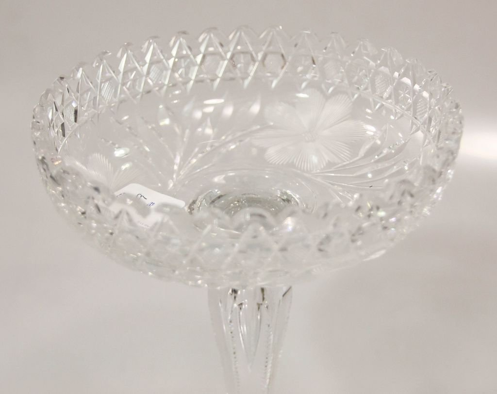 Cut Glass Compote - 2
