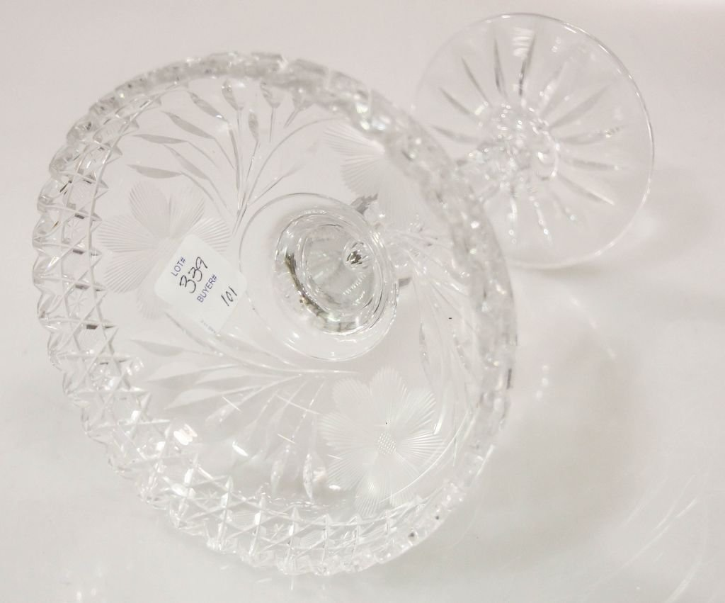Cut Glass Compote - 3