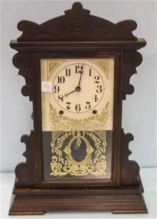 Victorian Carved Oak Kitchen Clock