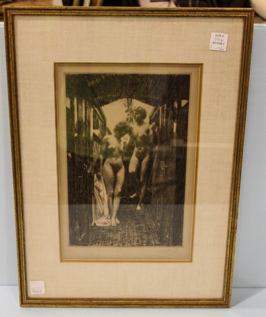 Anders Zorn Drypoint Etching