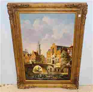 Chadwick Oil Painting of European Scene